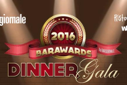 #Barawards2016 Gala Dinner: è il gran giorno. Segui la diretta sui nostri social