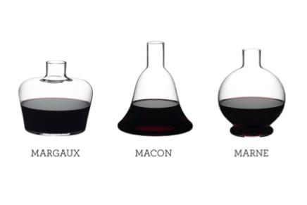 Da Riedel tre nuovi decanter ispirati alle bottiglie di cognac e whisky