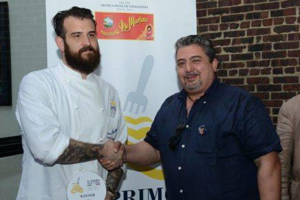 """Lo chef Joshua Pinski ha vinto premio """"Il Primo di New York"""" del pastificio Di Martino di Gragnano"""