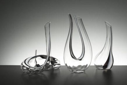 Cristallo optical, bianco e nero, per i nuovi decanter fatti a mano Riedel Crystal