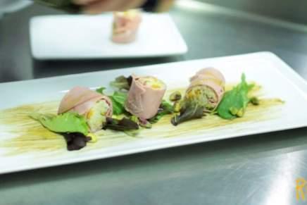 Sushi di mortadella, pistacchi e zucca di Roberto Carcangiu