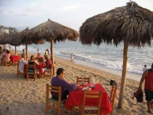 ristorante sulla spiaggia - estate