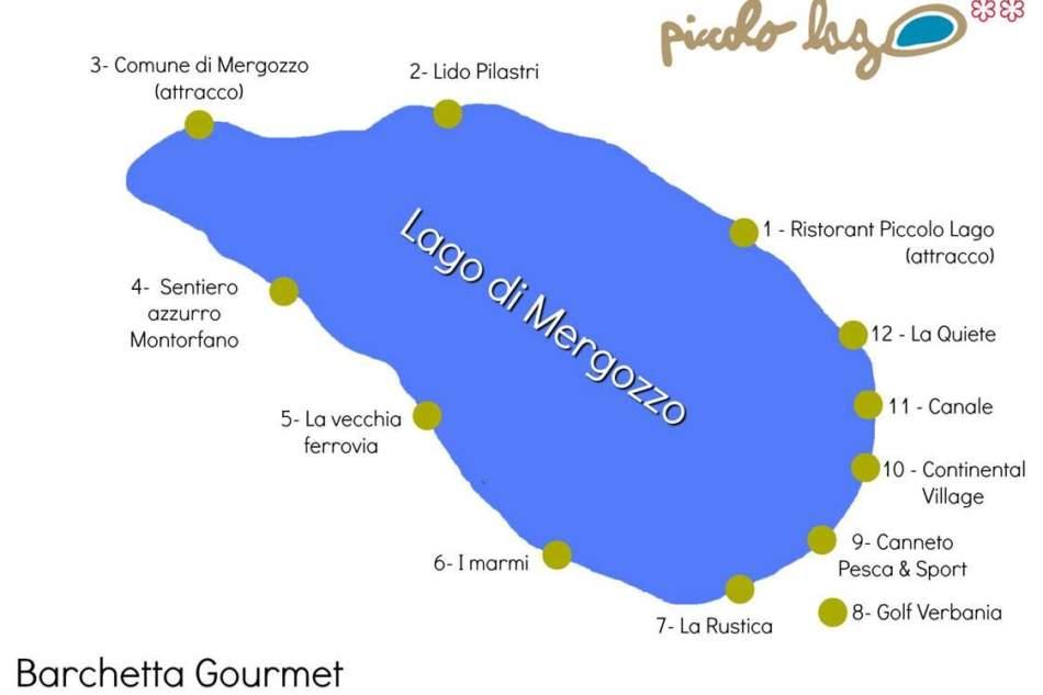 Mergozzo (Vb):  al Piccolo Lago riprendono i tour sulle barchette gourmet