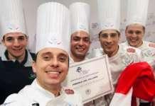 """Lo chef Andrea Del Villano (in primo piano) tra i protagonisti dell'evento """"Birra e alta gastronomia"""""""